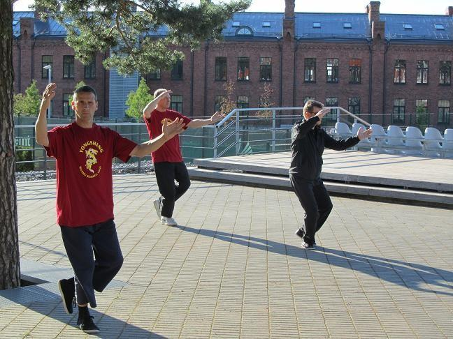 The Chinese health practice of TAI CHI (Taiji)