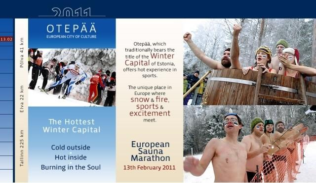 Hot European Sauna Marathon in Hot Winter Capital Otepää