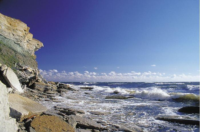 The limestone cliff is one of the natural landscapes most characteristic of northern Estonia