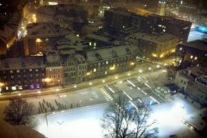 View of ice rink from St Nicholas