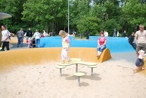Playground on Pärnu beach