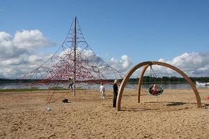 Climbing frame on Tamula beach promenade