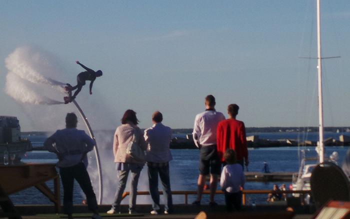 Flyboarding at Port Noblessner