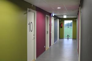 Corridor on the first floor of the Tuhamäe Hostel