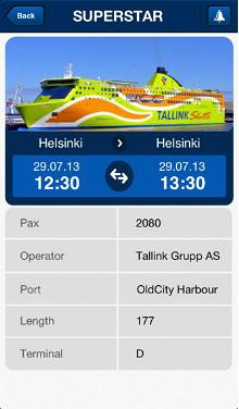App shows ships visiting Port of Tallinn