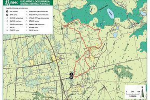 Uuejärve nature trail – map