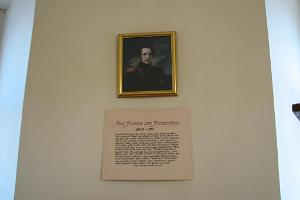 A. J. von Krusenstern memorial room – display about Krusenstern's son