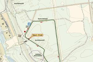 Map of the 2 km trail