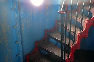 Lovely winding staircase at the Kihnu lighthouse