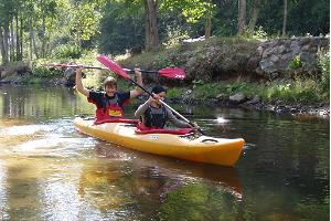 A canoe or a kayak trip is a great way for spending your holiday.
