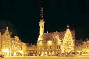 Tallinn Town Hall Square and Tallinn Town Hall