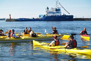 Kayaking on Tallinn Bay