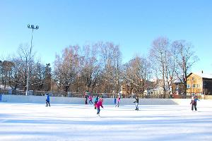 Skating rink in the centre of Pärnu