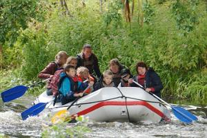 Summer rafting trip on the Võhandu River