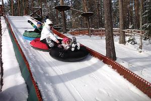 Tubing tracks at the Alutaguse Adventure Park