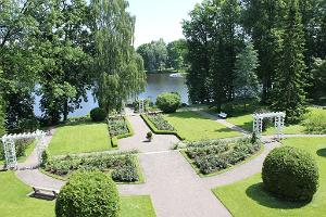 View of the French park from the balcony of Sillapää Castle