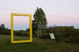 The yellow window of National Geographic in Lüllemäe