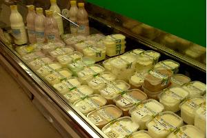 Organic dairy products from the Pajumäe farm on the Pärnu market
