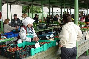 At the end of June and beginning of July, fresh Estonian strawberries and raspberries are available on the market.