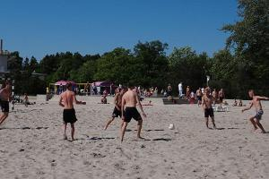Football match on Pärnu beach