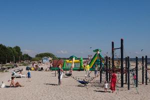 Pärnu beach and attractions for children