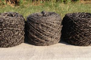 Spun yarn made of the wool of the Kihnu native sheep
