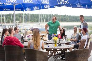 Summer café at Port Dirhami
