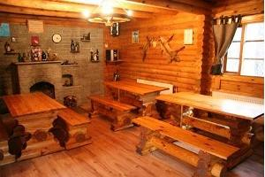 Fireplace room in the sauna