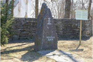 Memorial stone to Kongla Ann