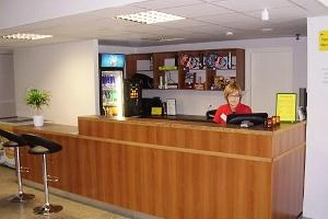 Sportcentrets receptionsdisk