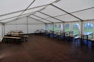 Outdoor tent with a floor, 120 m²