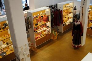 The museum gift shop includes products from local artisans