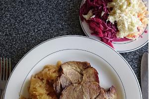 Reldor Fast Food Restaurant - roast pork, a classical Estonian meal
