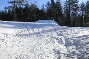 Skiing tracks at Padise