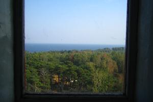 A view from a lighthouse window on Naissaar