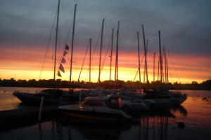 Sunset at Pärnu marina