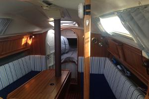 A cabin on yacht Salacia