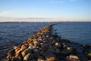View of Pärnu from the end of the pier