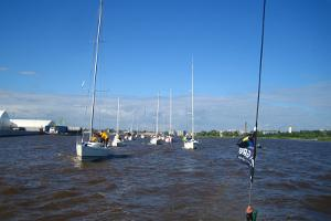 On the River Pärnu, sailing towards the sea