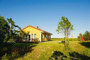 The holiday home is a private place in the middle of nature in Saaremaa.