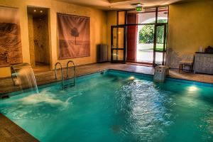Inside pool at Kau Manor