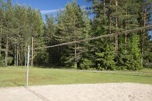 We have a volleyball and badminton court, perfect for tournaments with your friends!