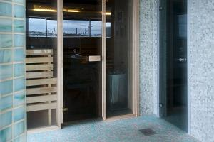 Hestia Hotel Seaport, sauna on the fourth floor, overlooking the Old Town