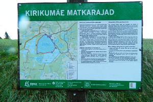 Hiking trails at Lake Kirikumäe
