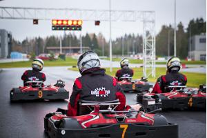 Go-kart racing at LaitseRallyPark