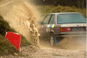 Driving a rally car at LaitseRallyPark