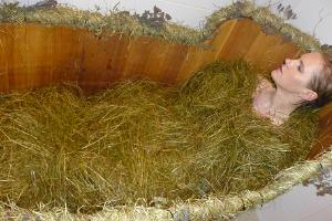 Procedure with hay