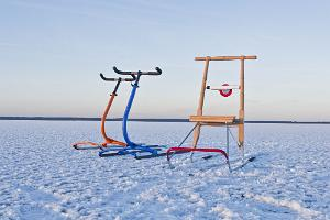 Kick sledge trip on the bays of Haapsalu and Tahu