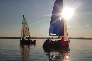 Sailboat rental on Lake Võrtsjärv