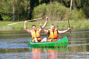 Canoe trip along the River Õhne in historical Mulgi County